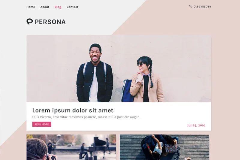 Sample WordPress theme - blog.