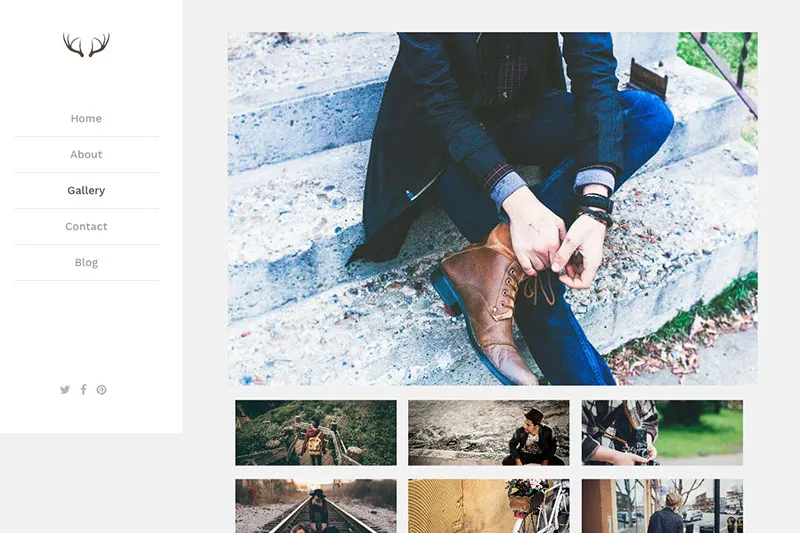 Sample WordPress theme - travel blog.