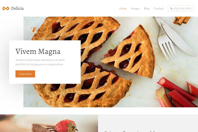 Sample WordPress theme - bakery.