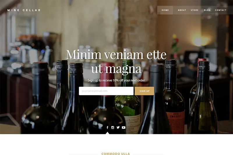 Sample WordPress theme - winery.